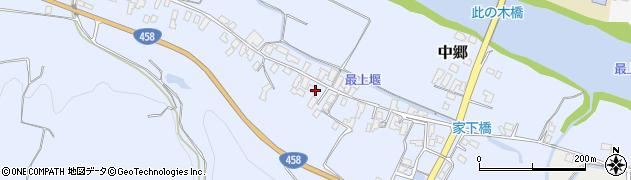 山形県寒河江市中郷502周辺の地図