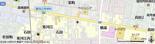 山形県寒河江市寒河江横道12周辺の地図