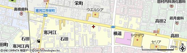 山形県寒河江市寒河江横道13周辺の地図