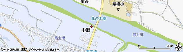 山形県寒河江市中郷156周辺の地図