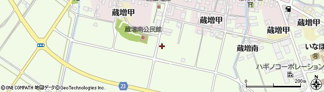 山形県天童市蔵増周辺の地図