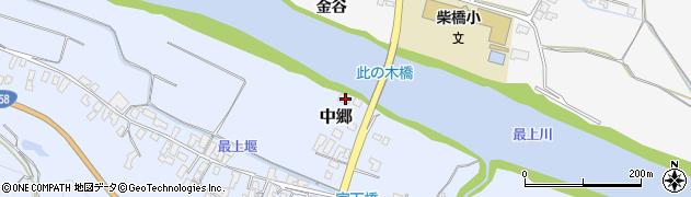 山形県寒河江市中郷157周辺の地図