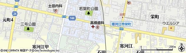 山形県寒河江市若葉町13周辺の地図