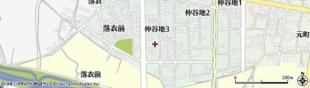 山形県寒河江市仲谷地3丁目周辺の地図