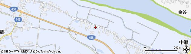 山形県寒河江市中郷541周辺の地図