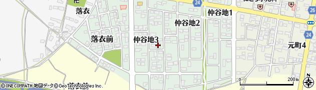 山形県寒河江市仲谷地周辺の地図