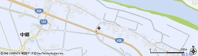 山形県寒河江市中郷549周辺の地図
