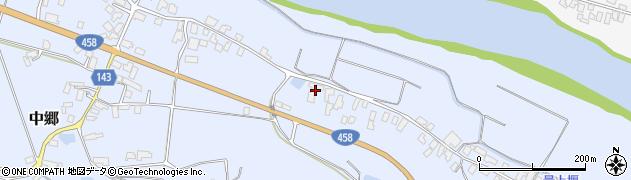 山形県寒河江市中郷545周辺の地図