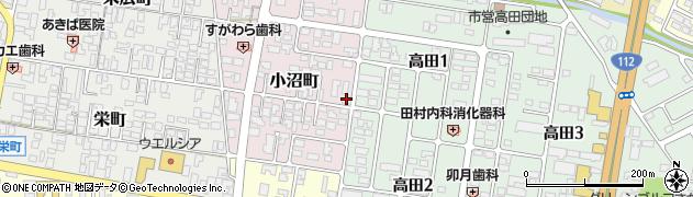 山形県寒河江市小沼町36周辺の地図