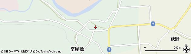 山形県西村山郡大江町堂屋敷周辺の地図