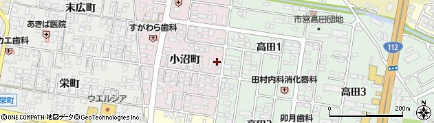 山形県寒河江市小沼町35周辺の地図