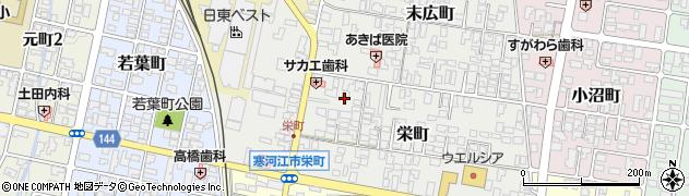 山形県寒河江市栄町2周辺の地図
