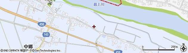 山形県寒河江市中郷896周辺の地図