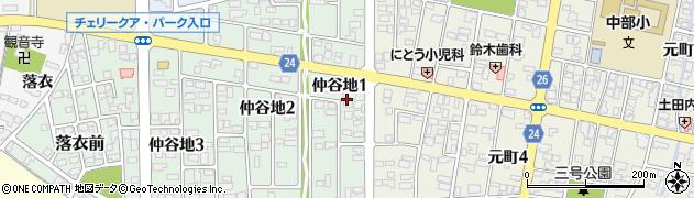 山形県寒河江市仲谷地1丁目周辺の地図