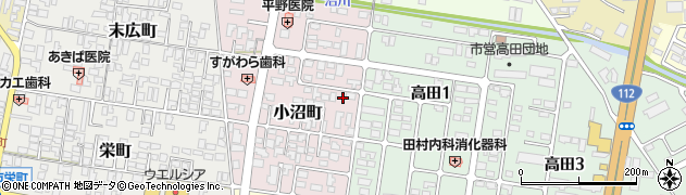 山形県寒河江市小沼町161周辺の地図