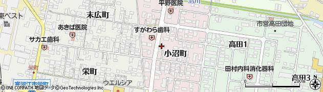 山形県寒河江市小沼町28周辺の地図