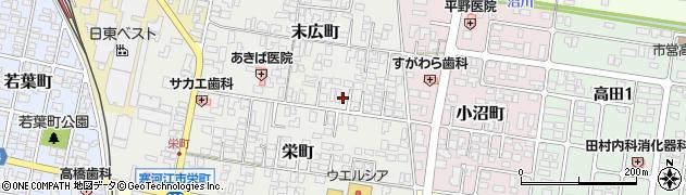 山形県寒河江市末広町周辺の地図