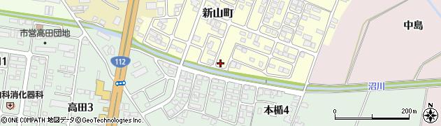山形県寒河江市新山町10周辺の地図