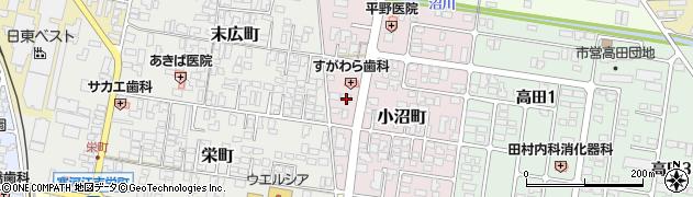 山形県寒河江市小沼町27周辺の地図