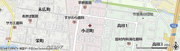 山形県寒河江市小沼町157周辺の地図