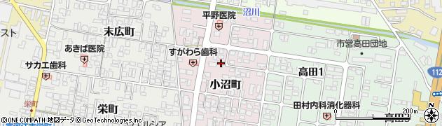 山形県寒河江市小沼町155周辺の地図