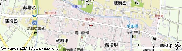 山形県天童市蔵増乙周辺の地図