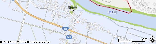 山形県寒河江市中郷683周辺の地図