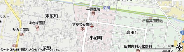 山形県寒河江市小沼町41周辺の地図