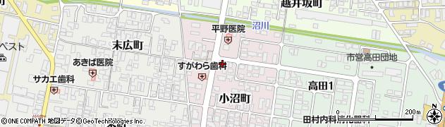山形県寒河江市小沼町151周辺の地図