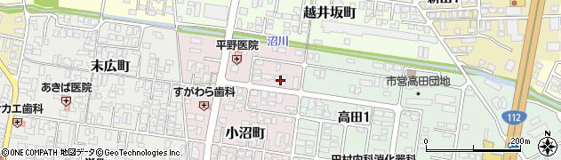 山形県寒河江市小沼町136周辺の地図