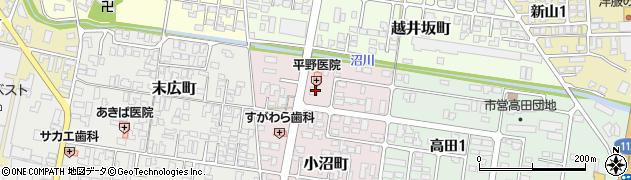 山形県寒河江市小沼町114周辺の地図
