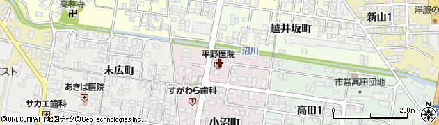 山形県寒河江市小沼町69-1周辺の地図