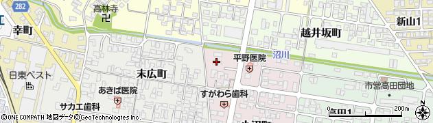 山形県寒河江市小沼町65周辺の地図
