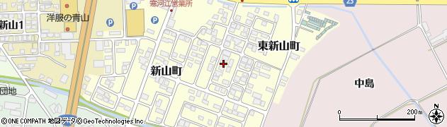 山形県寒河江市新山町58周辺の地図