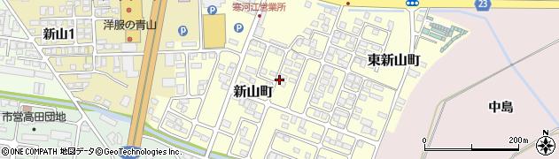 山形県寒河江市新山町4周辺の地図