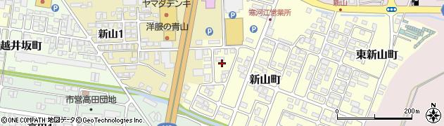 山形県寒河江市新山町19周辺の地図