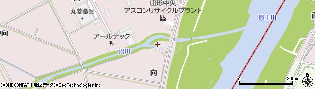 山形県寒河江市日田向周辺の地図