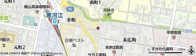 山形県寒河江市幸町2-32周辺の地図