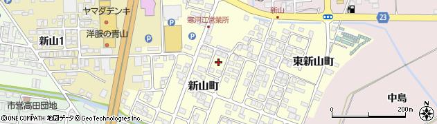 山形県寒河江市新山町5周辺の地図