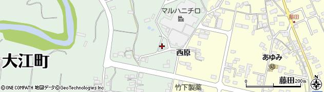 山形県西村山郡大江町小見54周辺の地図