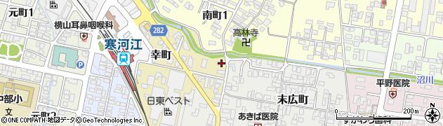 山形県寒河江市幸町2-34周辺の地図