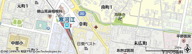 山形県寒河江市幸町2-20周辺の地図