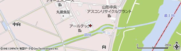 山形県寒河江市日田中向400周辺の地図