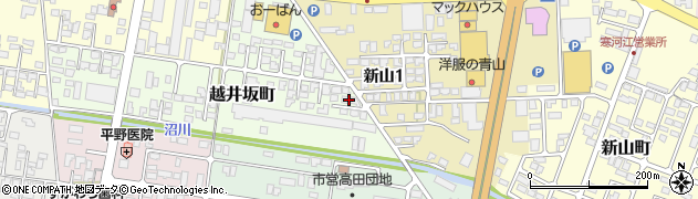 山形県寒河江市越井坂町127周辺の地図