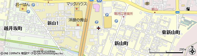 山形県寒河江市新山町21周辺の地図