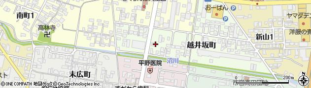 山形県寒河江市越井坂町41周辺の地図
