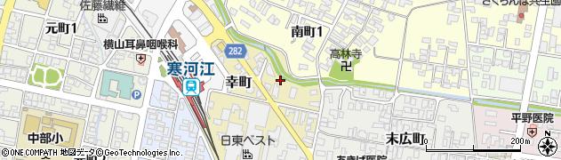 山形県寒河江市幸町2周辺の地図