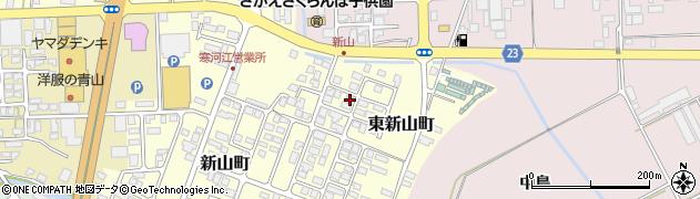 山形県寒河江市東新山町周辺の地図