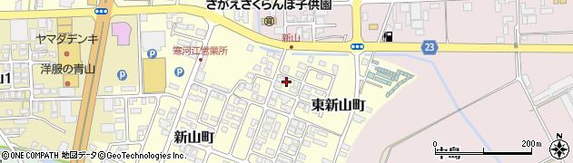山形県寒河江市東新山町210周辺の地図
