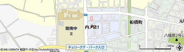 山形県寒河江市内ノ袋1丁目周辺の地図
